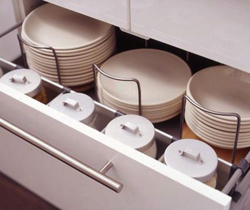 Stack Plates Using Adjustable Dividers To Organize Your Cupboard Or Drawer Into A Lean One De Kitchen Drawer Organization Kitchen Drawers Kitchen Organization