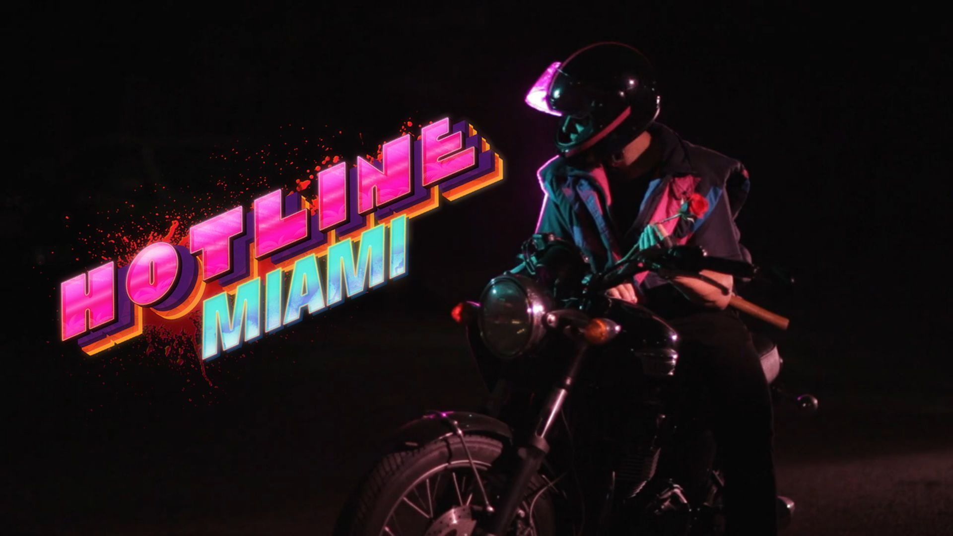 While I Love The Neo Noir Vibes Of This Frame The Contrast Of Blackness And Fluorescent Neon It S Not So Much This Frame Hotline Miami Miami Miami Wallpaper