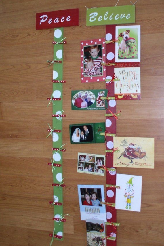Christmas cards, holiday card holder, card display, Christmas decor