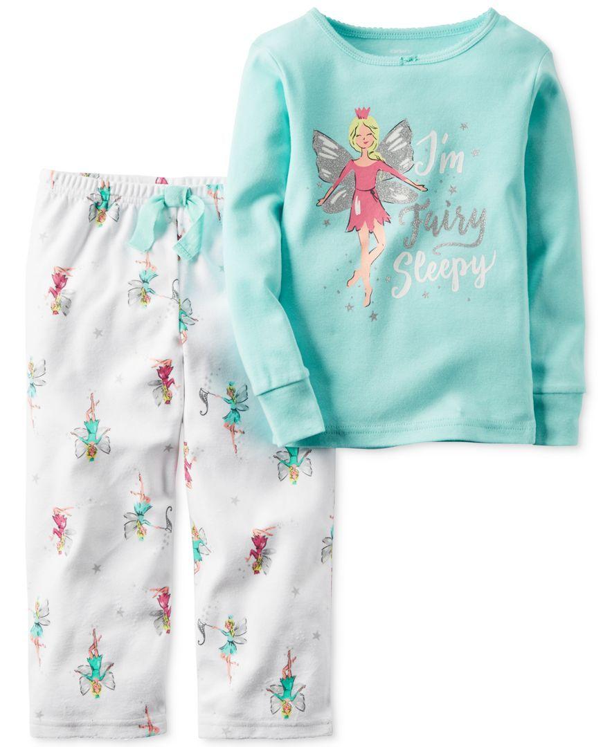 05098a2b8 Carter s Toddler Girls  2-Pc. I m Fairy Sleepy Long-Sleeve Top ...