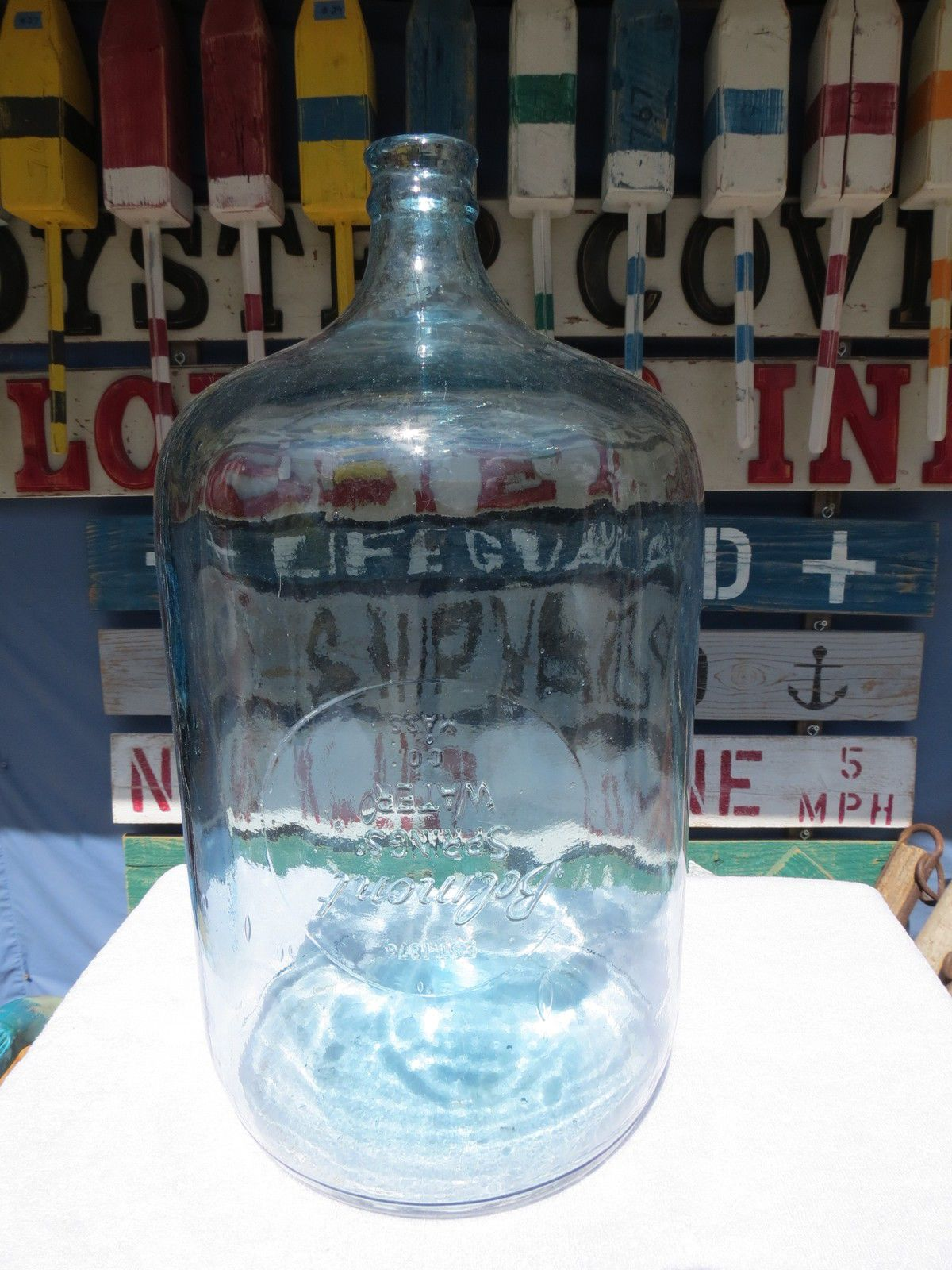 belmont springs water co 5 gallon carboy glass water bottle b612 ebay