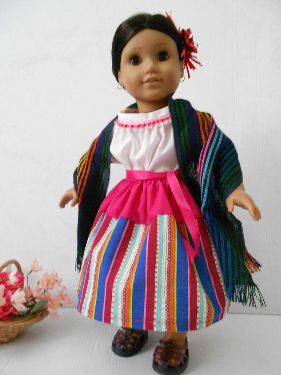 Mexican folklorico skirt blouse ensemble by DeColoresDollFashion ...