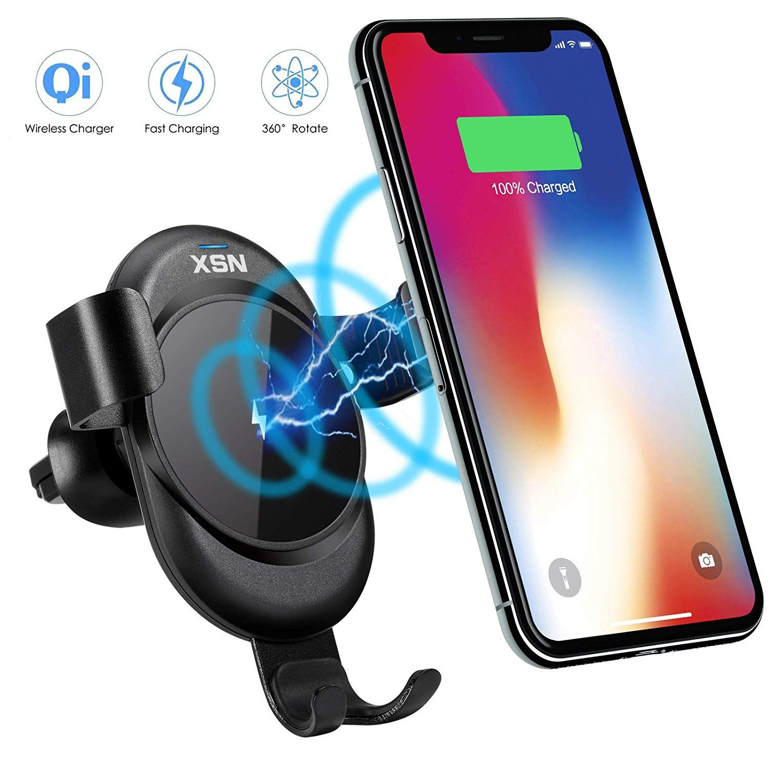 100 off wireless car charger mount air vent phone