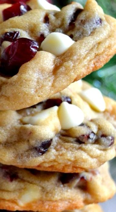 The BEST Soft & Chewy Cranberry White Chocolate Ch