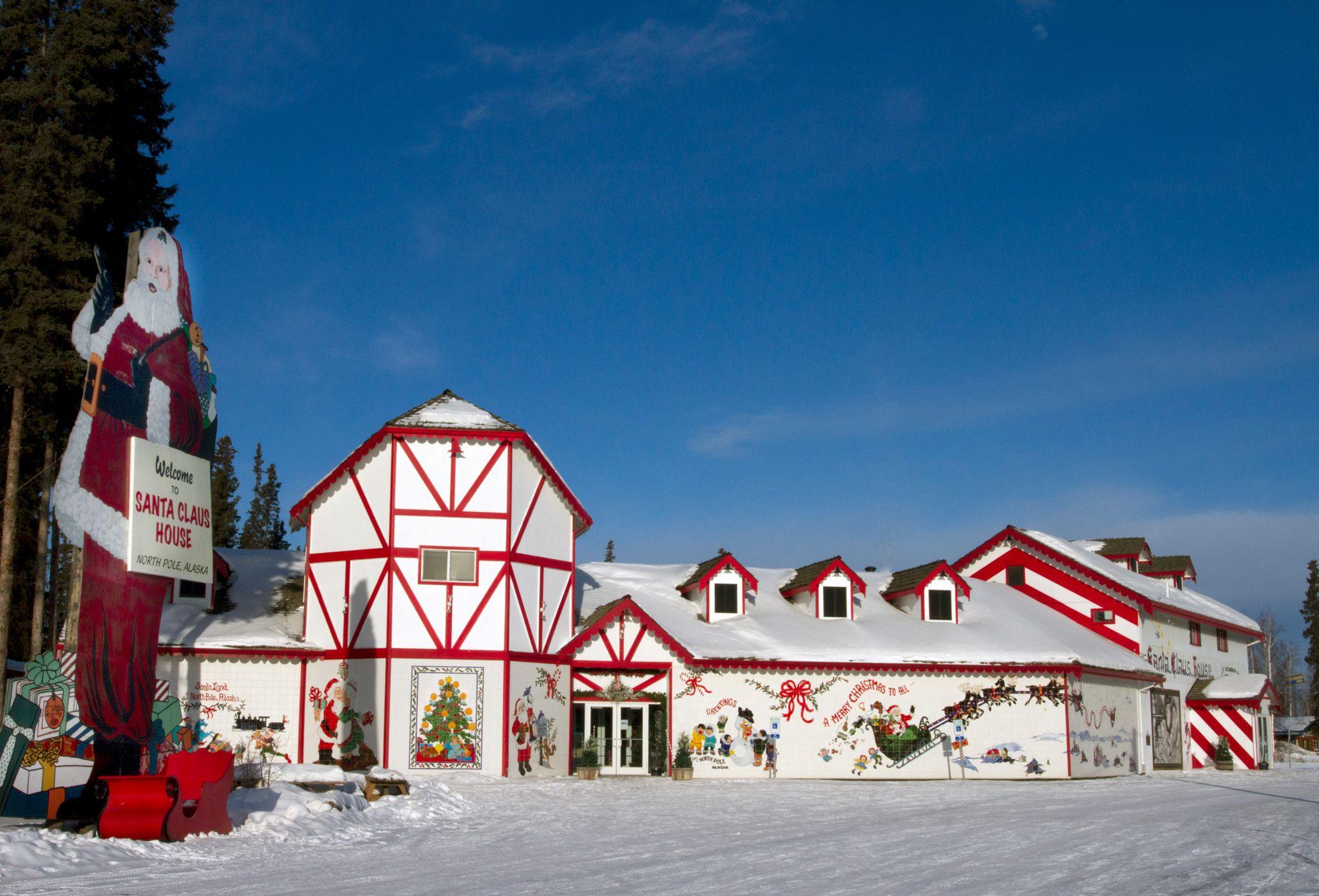 Polo Norte, Alaska in christmas