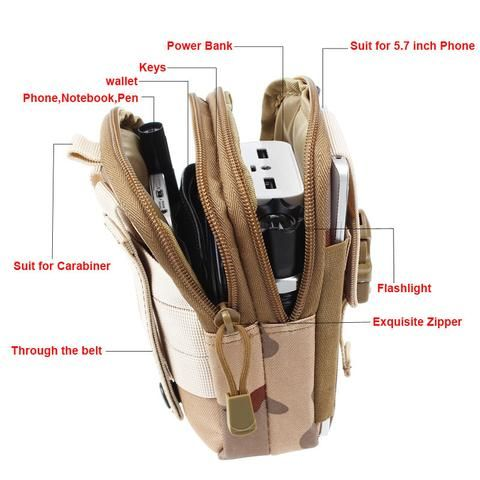 LIMITED TIME ONLY! NOT SOLD IN STORES This Tactical Molle Waist Pack with Universal Phone Holder is all you need to carry your small tactical gear without weighing you down. It's a must-have for tacti