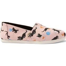 Photo of Toms Shoes Pink Cats Print Canvas Classics For Women – Size 38.5 TomsToms