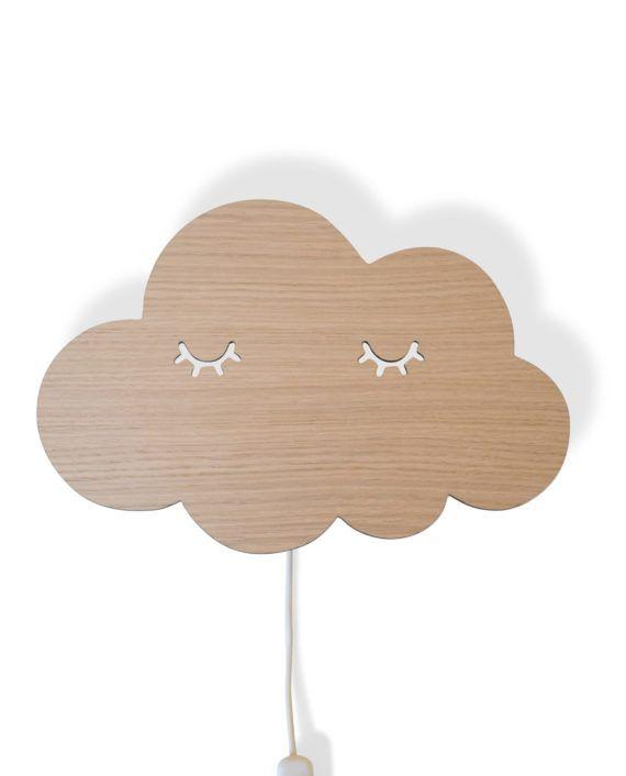Sleepy sky lampe, lampe til børn, lampe til børneværelset, lampe i træ | Lamper til børn ...