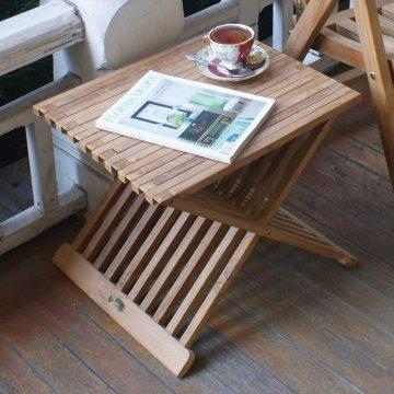 Teak Snack Table. http://www.columbusmillwork.com/exotic-woods.php