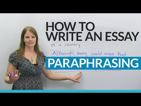 Good Science Essay Topics How To Write A Good Essay Paraphrasing The Question  Youtube Essays About High School also Best Business School Essays How To Write A Good Essay Paraphrasing The Question  Youtube  Science Essays Topics