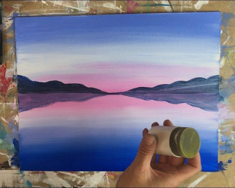 How To Paint A Sunset Lake Pier is part of Sunset painting easy, Lake painting, Lake sunset painting, Sunset painting, Painting, Canvas painting tutorials - How to paint a sunset over a lake and a rustic pier  This beginner acrylic painting tutorial will guide you through the steps