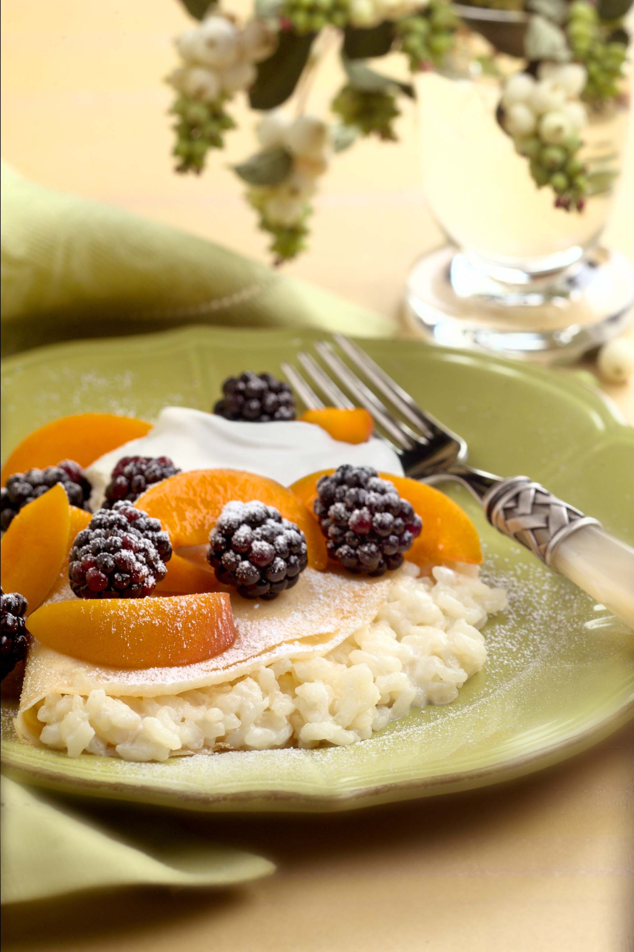 Looking for a good way to cook up our RiceSelect Arborio rice? Look no further and try this delectable Crepes Stuffed with Grand Marnier Rice Pudding.