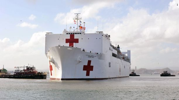 Hospital Ship Comfort Arrives In Puerto Rico Puerto Rico Hospital Medical Services