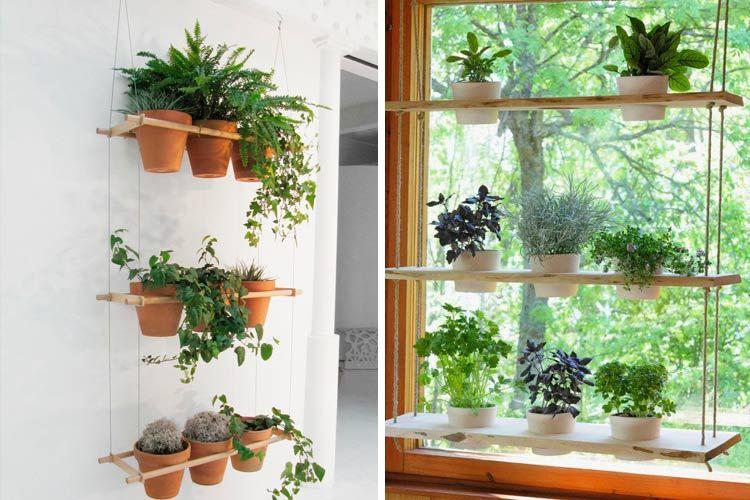 Ideas para decorar con estanteras colgantes  houseplants