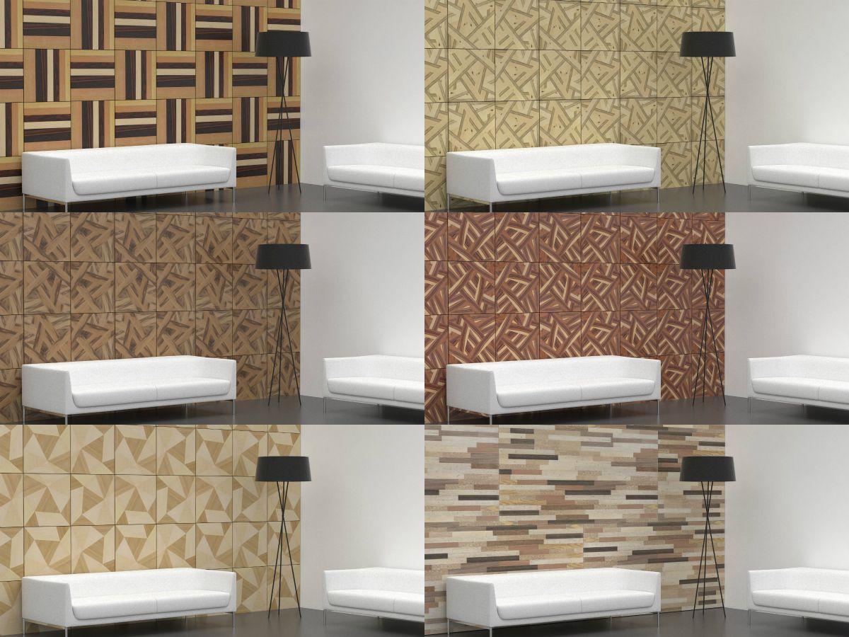 Revestimientos interiores con paneles de madera rechapados for Paneles madera paredes interiores