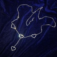 New 90s vintage flash drill heart waist chain cute bling bling night club  disco belt 2e45e1118eb5