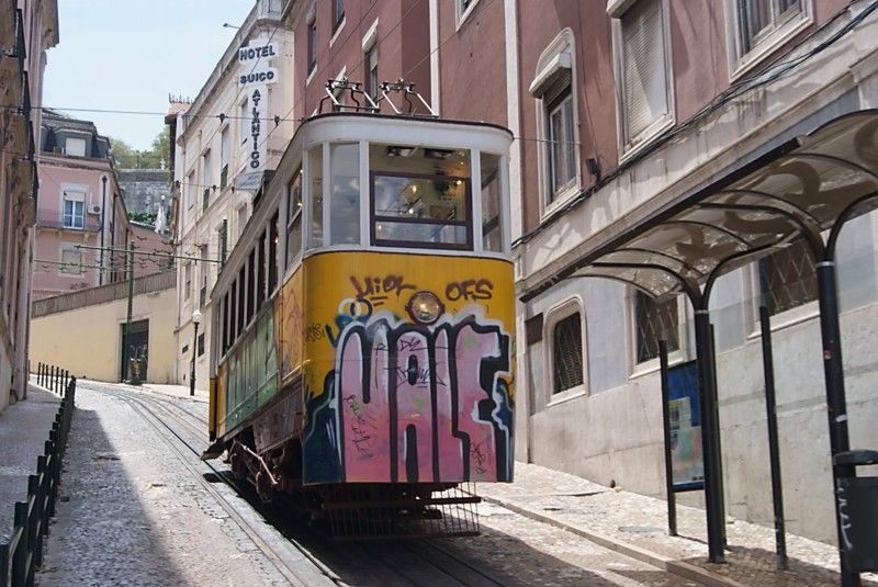 Trolley in Lisbon Portugal European travel, Lisbon