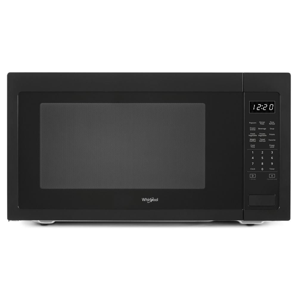 Whirlpool 2 2 Cu Ft Countertop Microwave In Black With 1 200