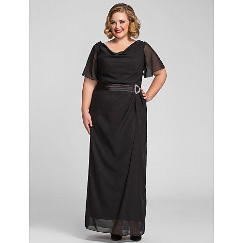 Formal evening prom military ball dress black plus