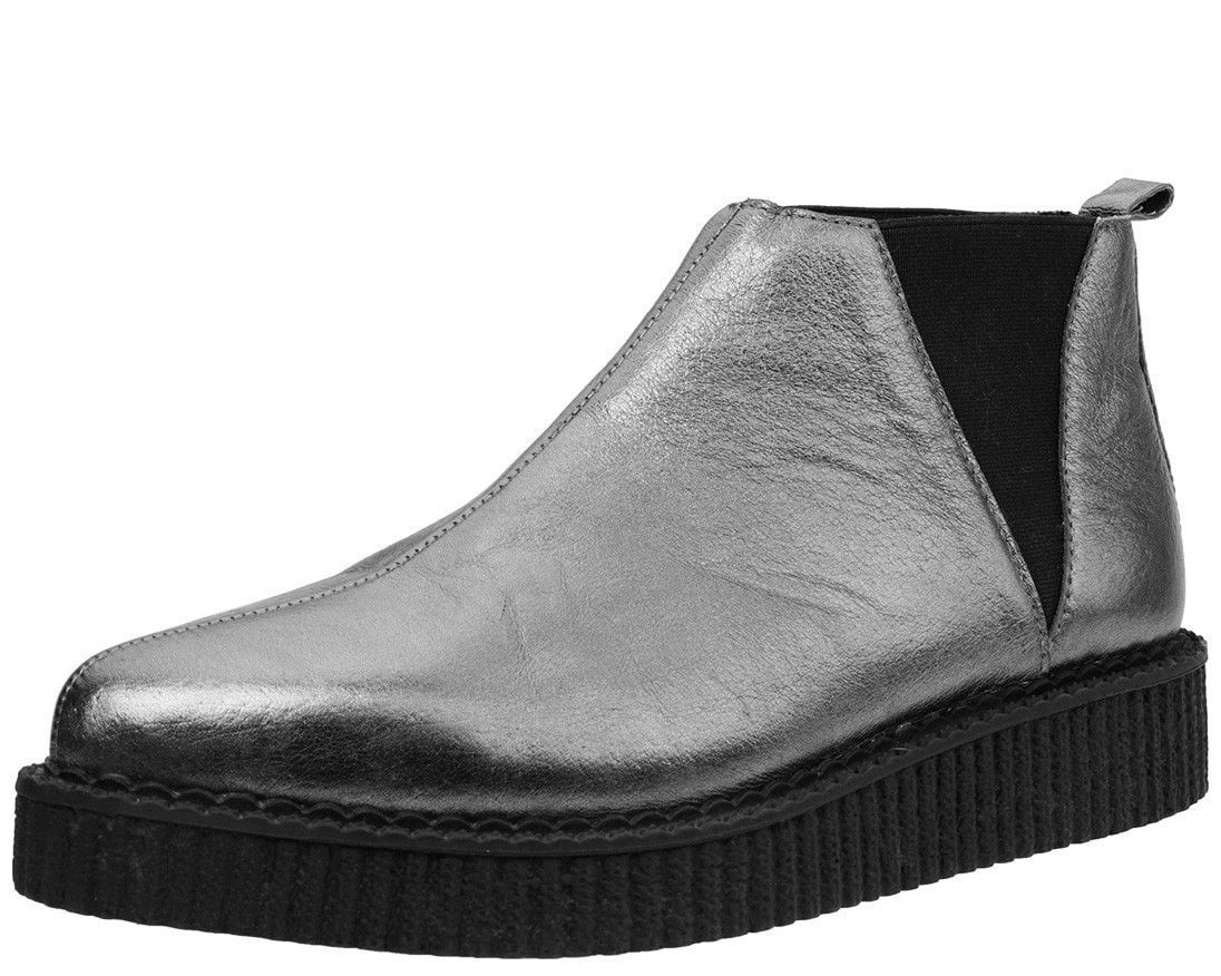 Graphite Chelsea Pointed Creeper Boot