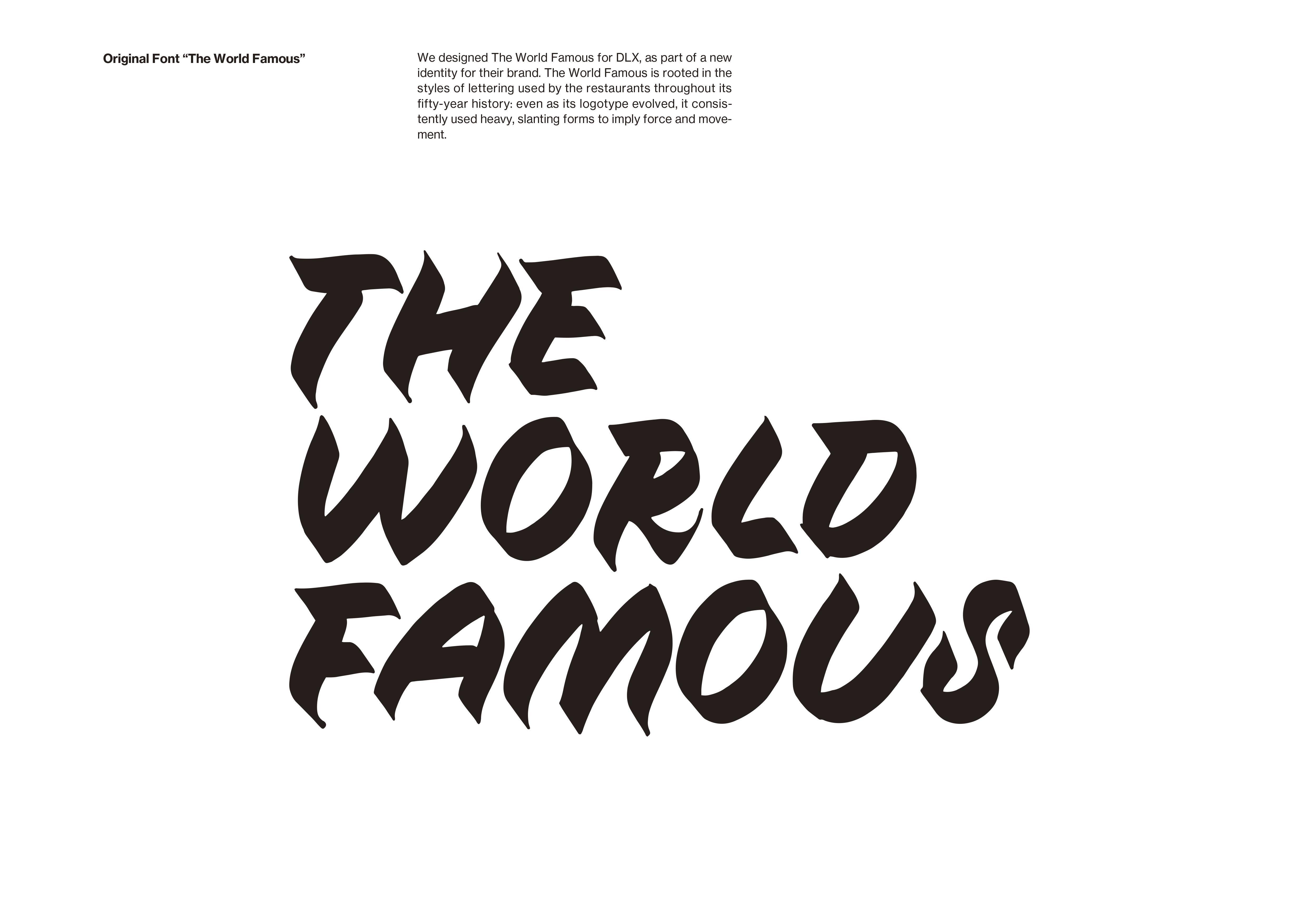 マイ @Behance プロジェクトを見る : 「THE WORLD FAMOUS」 https://www.behance.net/gallery/47538121/THE-WORLD-FAMOUS