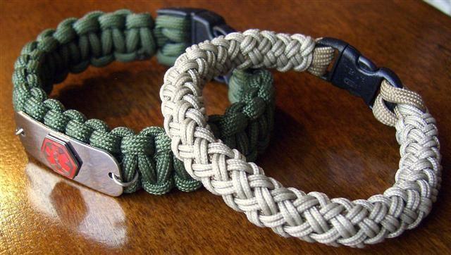 4 Bight Turks Head Knot Bracelet Paracord Jewelry Knots