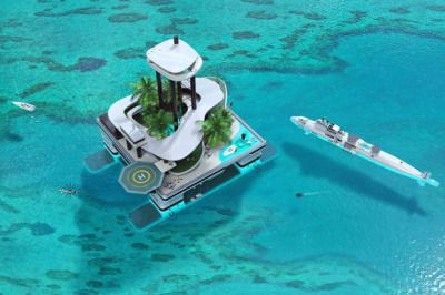 Luxury Floating Private Islands[[MORE]]A plush portable island that will allow guest to float wherever their heart desires is set to be built. The luxury island - which will feature a penthouse, jungle deck with waterfall, and an alfresco dining area – would be the first in the world to move under its own power.Owners of the island will be treated to 360-degree sea views from the penthouse suite, which can be accessed by an 80-meter elevator. Around the complex, residents will find all the…