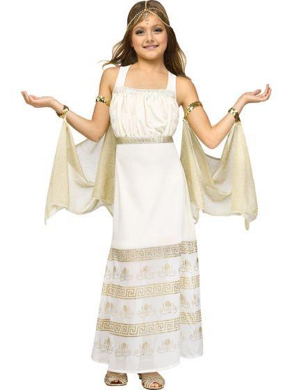 girls golden goddess costume wholesale greekroman costumes for girls