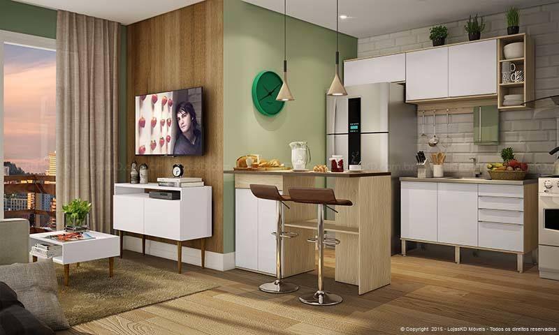 Conjunto para cozinha sala de estar com arm rios a reos balc o ilha balc o para pia 2 - Armarios para sala de estar ...