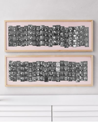 A Picture Perfect Way To Display Wedding Guest Photobooth Strips