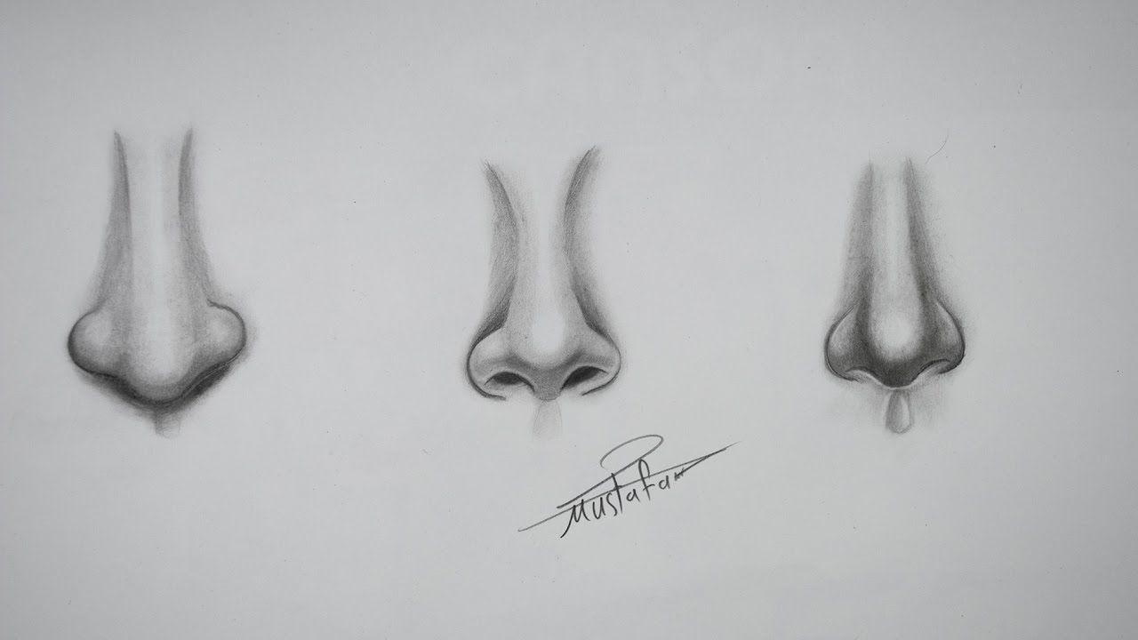 تعليم رسم الانف تعليم رسم للمبتدئين رسم الانف بأشكال مختلفة Youtube Face Drawing Drawings Draw