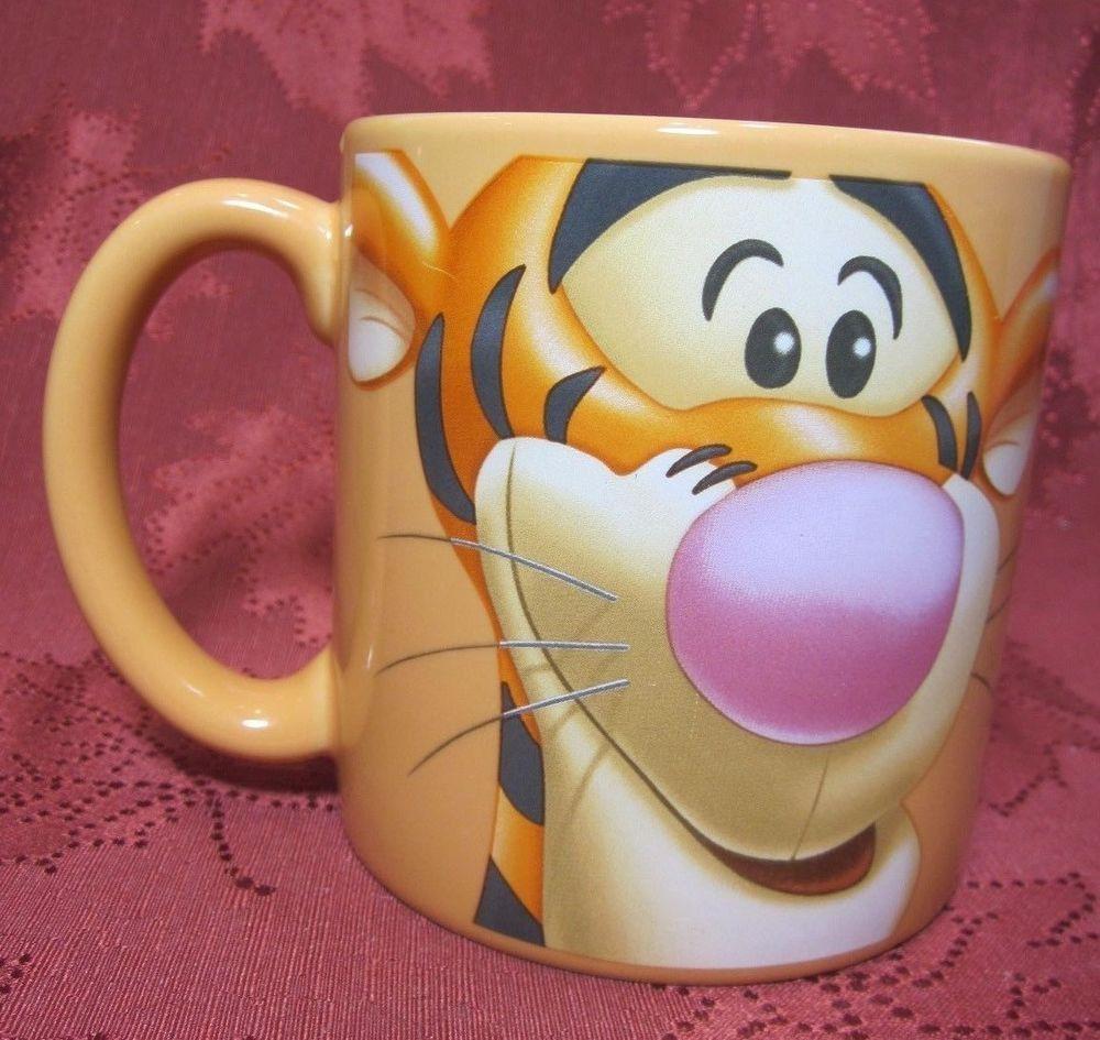 Large Disney Store Tigger Mug Orange Face Winnie the Pooh