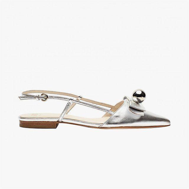 Frances Valentine Caroline metallic leather closed-toe slingback flats, $395 Buy it now