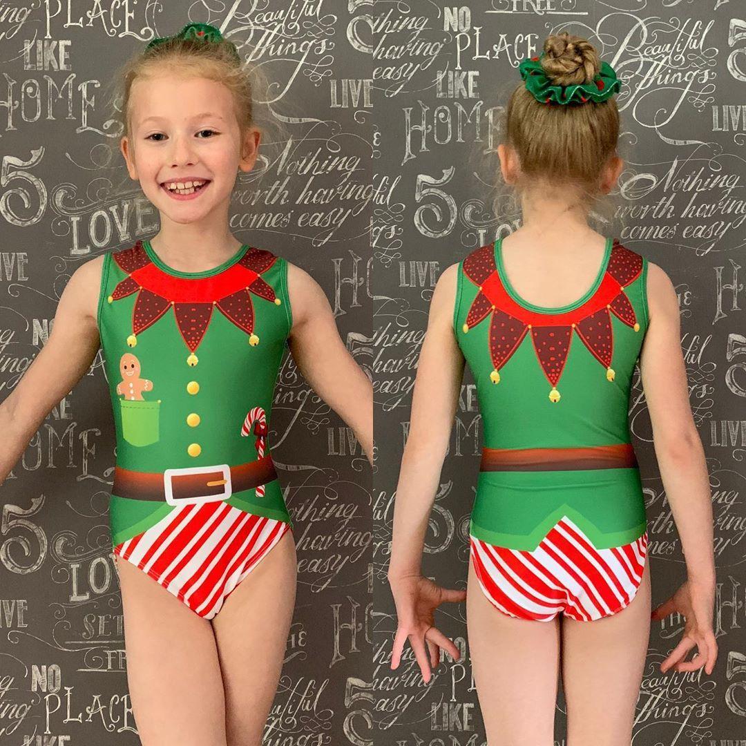 holiday leotard cane leotard gifts for girls gifts for gymnasts Gymnastics leotard winter leotard candy cane  leotard tank leo