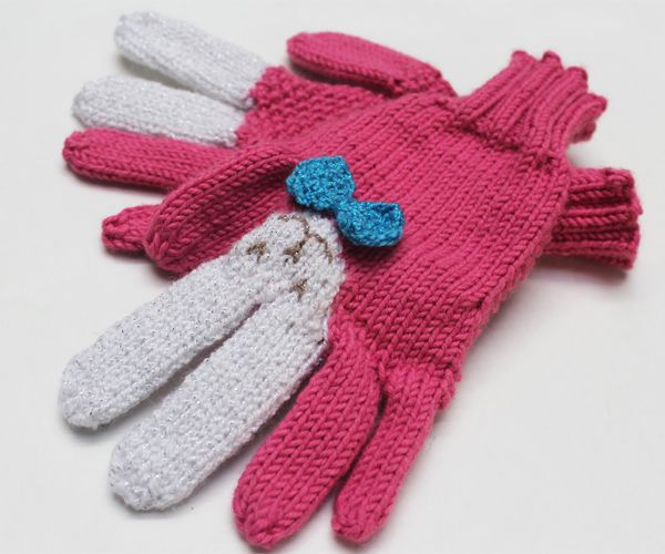 How to Make Bunny Gloves from devincole.com | mittens | Pinterest ...
