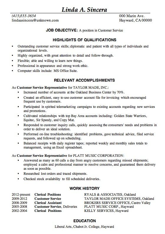 Examples Of Good Resumes Best Template Collection Customer Service Resume Examples Good Resume Examples Resume Skills