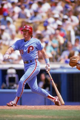 Mike Schmidt in the old Phillies road uniform.  7a5190235c0