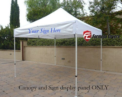 10ftx10ft Replacement Canopy With One Detachable Sign Display Panel In White Top Only Replacement Canopy Gazebo Tent Canopy Outdoor
