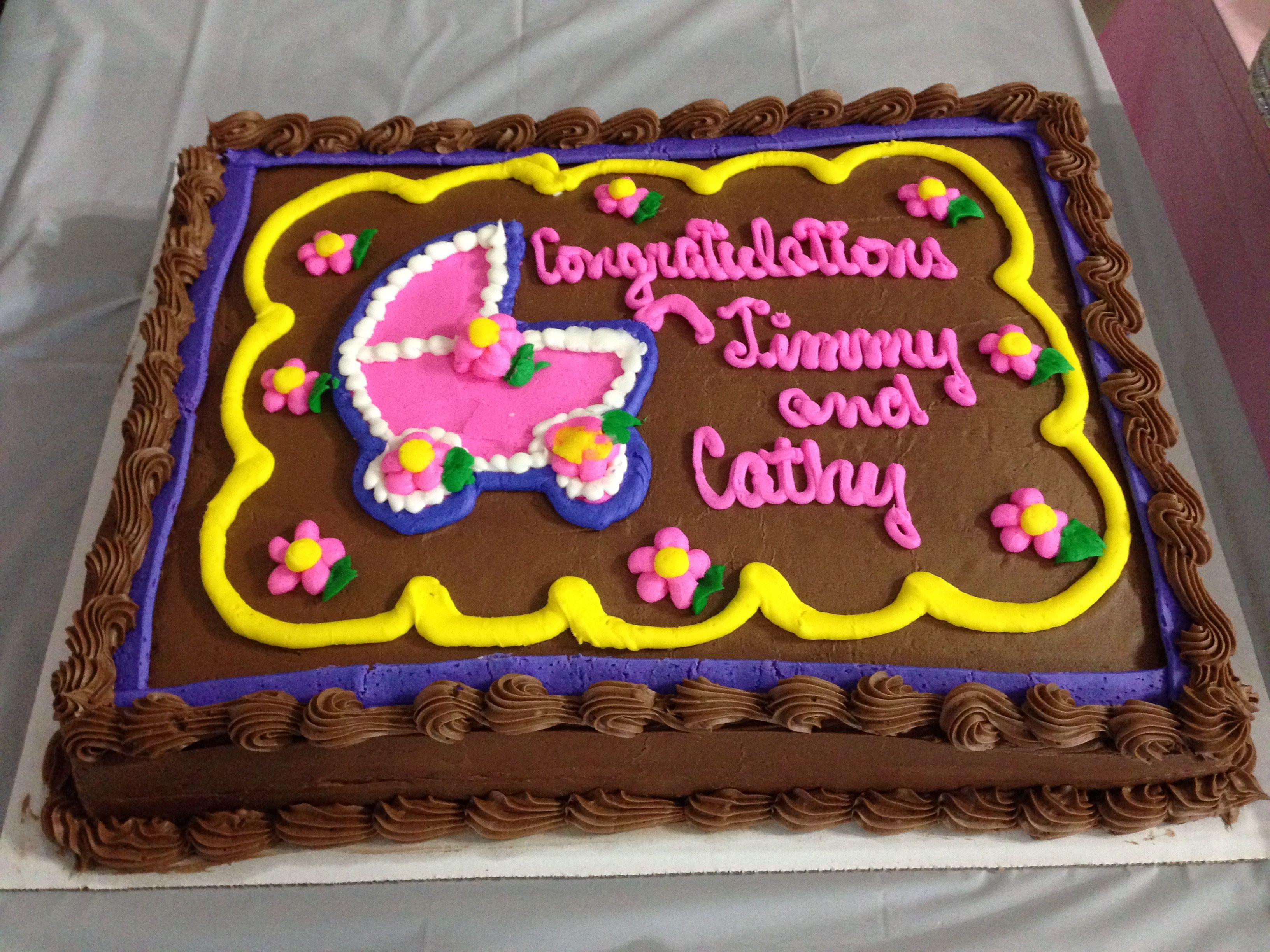 Costco Cake Very Good And Inexpensive Cathys Baby Shower Ideas