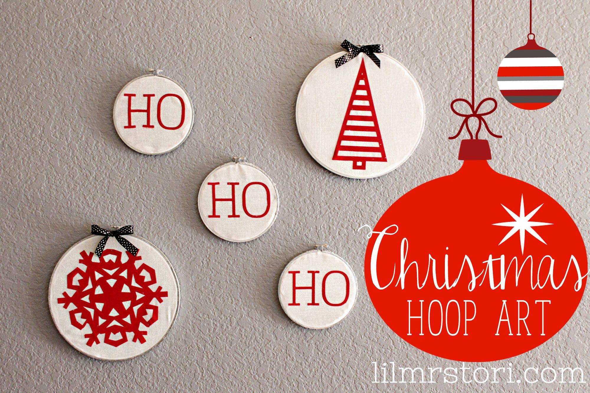 Christmas Hoop Art & Giveaway  Heat Transfer with Silhouette