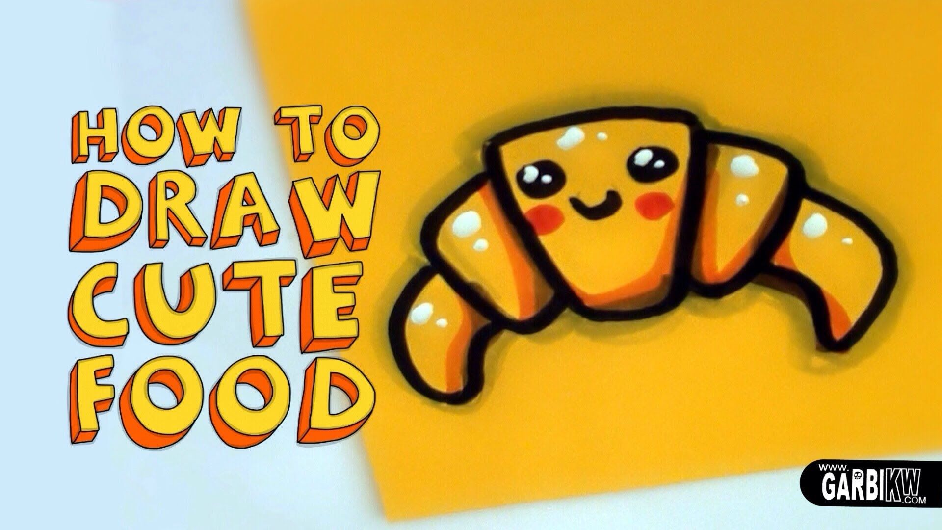 How To Draw a Cute Croissant - Kawaii Food - Easy Drawings ...