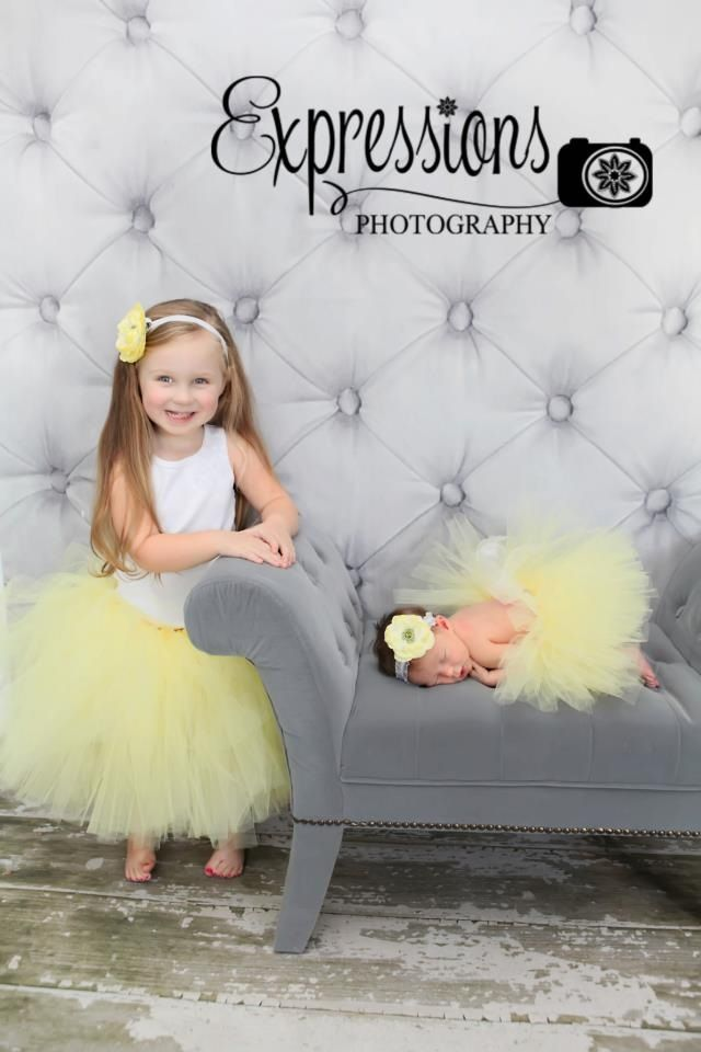 Matching tutus and coordinating headbands  www.facebook.com/ChloeBugBows Photo by expressions photography