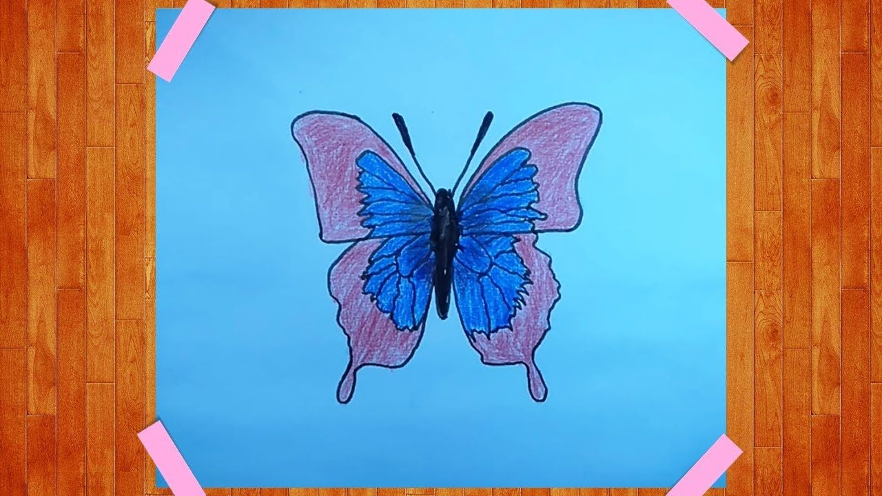 How To Draw A Girl With Butterfly Step By Step How To Draw A Beautiful Girl With Butterfly Easy Drawings Drawing Tutorial Easy Drawing Tutorial