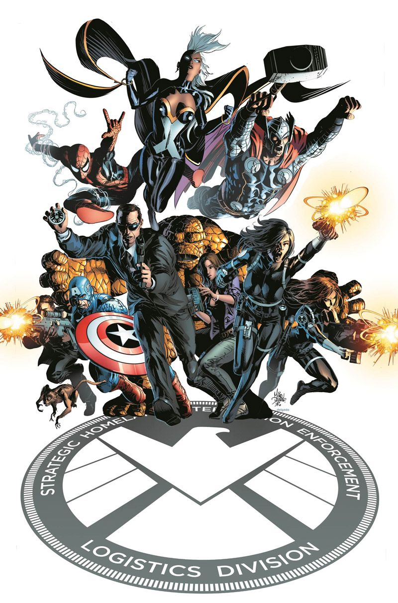 S.H.I.E.L.D. #1 cover by Mike Deodato Jr.