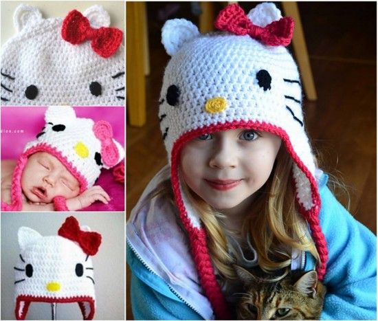 Hello Kitty Crochet Hat Pattern Free Video Crochet Disney Hello