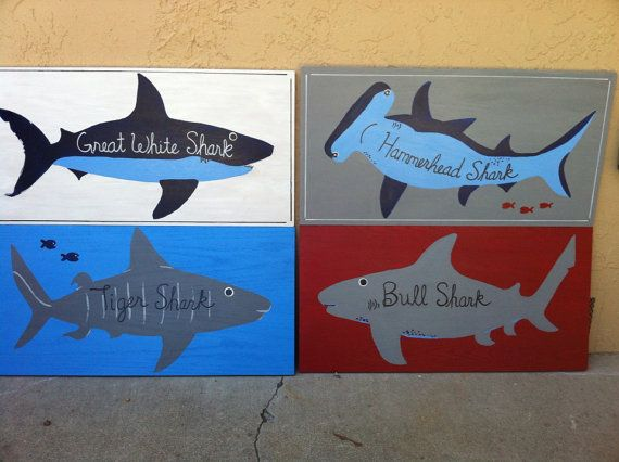 All Sharks 2 Red White Blue Grey Great Shark