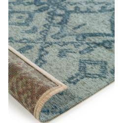 benuta Flachgewebeteppich Tosca Blau 155x235 cm - Moderner Teppich für Wohnzimmer benuta #bambussichtschutz