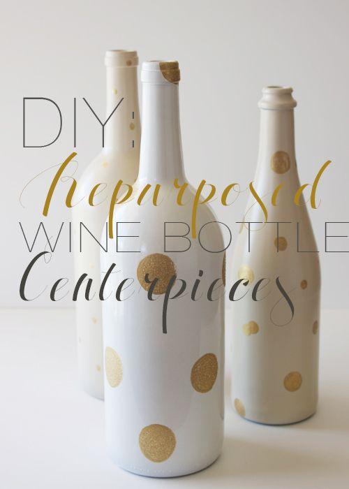 Make These Whimsical Wine Bottle Flower Vases Yourself Project By Danyelle MathewsBottle Ideas For Wedding