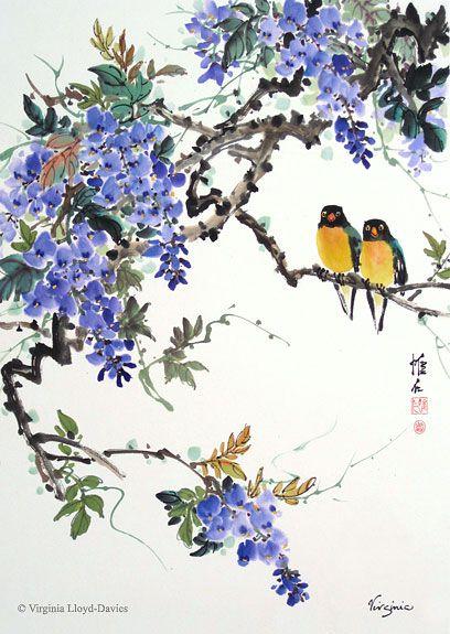 Virginia Lloyd-Davies.   Chinese Brush Paintings