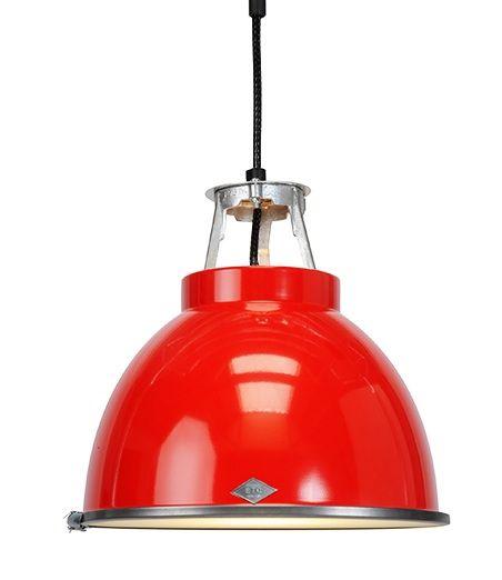Original Btc Titan Pendant Vibrant Red Ios Lighting At Bell Northampton Red Pendant Light Industrial Pendant Lights Pendant Lighting